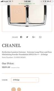 Chanel Extreme Long Wear and Pore Minimising Powder Foundation