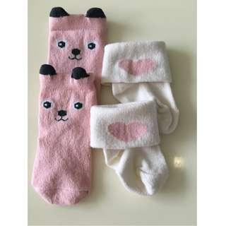 Baby girl socks for 0-3mos
