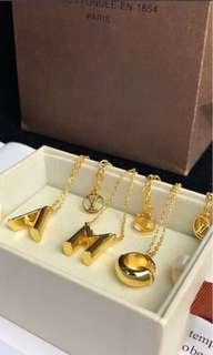 LV alphabet Necklace