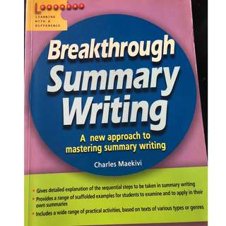 Secondary Summary writing Assessment Book