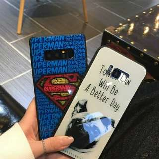 ⚠️INSTOCK! Glossy Superman Design Phone Cover For Samsung Galaxy S9 Plus