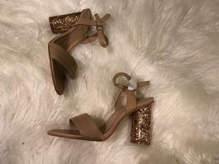 Mimco - Rose Gold Block Heels