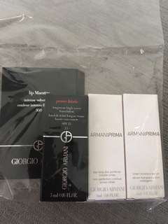 Giorgio Armani 全新 foundation, skin perfector, moisture serum, lip gloss