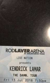 Kendrick Lamar ticket x1