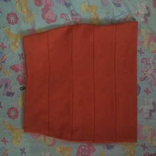 Rok orange ruffle