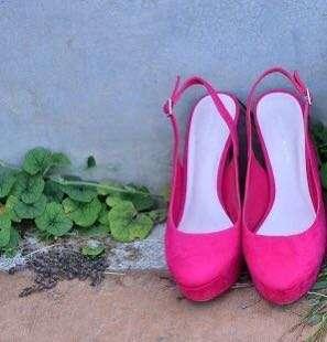 Charles & Keith pink high heels