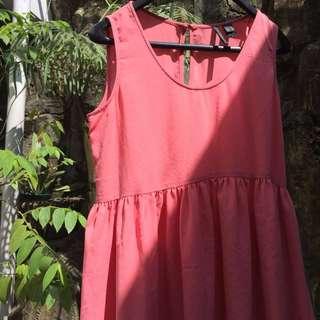 Peach Pink Midi Dress Salem MANGO