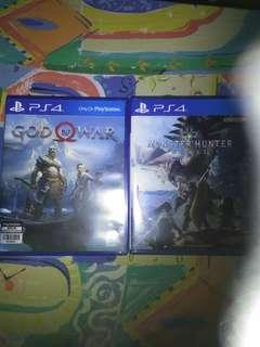 god of war4 and monster hunter world