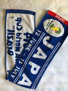 全新正版 2014 FIFA World Cup Japan 日本隊 毛巾 Towel 世界盃