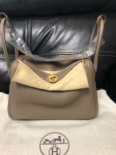 Hermes Lindy 26 clemence ghw etoupe