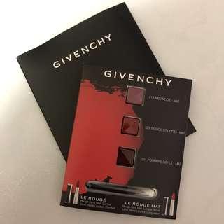 Givenchy Le Rouge Mat Sampling Colours