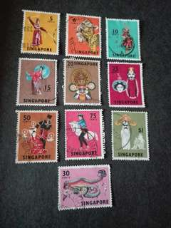 Singapore Stamps Dancers Used 1969