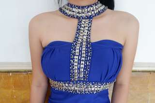 Blue elegant dress