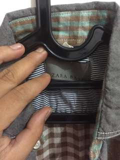 Flannel zara man basic