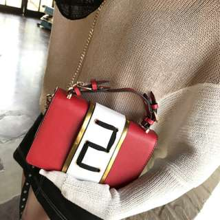 [PRE-ORDER] Women Classy Wild Fashion Square Diagonal Tie Sling Bag Cross Body Bag [Red/Pink/Brown/Grey/Black]