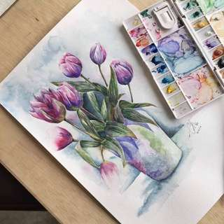 Floral Watercolour Painting #1