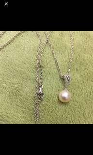 銀鑽石 珍珠吊咀 925 Silver Pearl Pendant Diamond