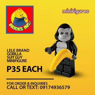 LELE™ Gorilla Suit Guy CMS Minifigures