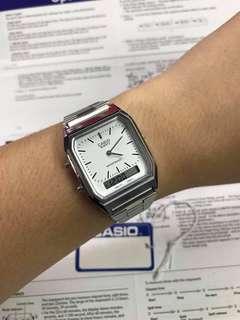 CASIO AQ-230 SILVER WATCH