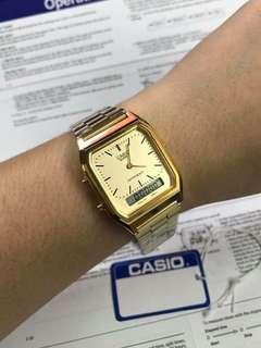 CASIO AQ-230 GOLD WATCH