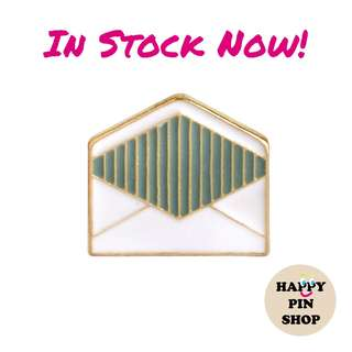[IN STOCK] Envelope Enamel Pin (Back To School - Graphic Shapes series)
