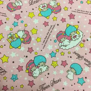 Sweet cute star cotton canvas fabric/kain diy cloth