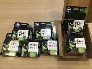 Sealed HP Ink Cartridges - 932/933 XL series