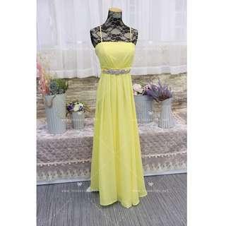 N217 黃色晚裝 姊妹裙 YELLOW evening dress