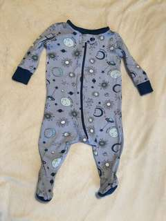 Children's place romper sleep & play footsie pj 0-3 month body suit