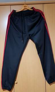 3 stripes red black pants