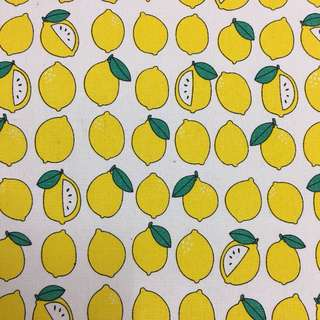 Fresh lemons 🍋 cotton canvas fabric/kain diy cloth