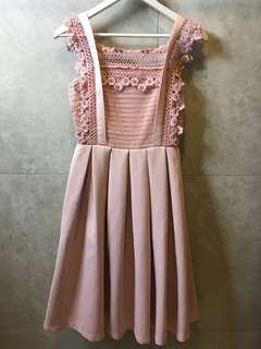Doublewoot Powder Pink Lacey Dress