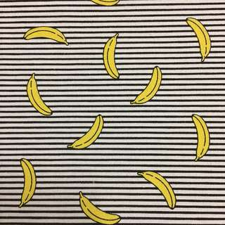 Fresh bananas 🍌 cotton canvas fabric/kain diy cloth