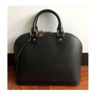 Authentic Louis Vuitton Alma PM Black