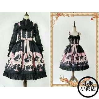 Running Carousel ~ Printed Lolita Casual Dress (Dress Only) (Short/Medium/Long Sleeve Lolita T-Shirt At My Other Listing)