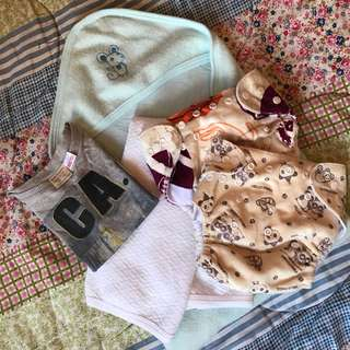Baby stuff/Cloth diaper,zara top,blankets