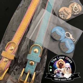 Pet collar + Customise Pet Tag