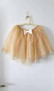 Gold tutu skirt