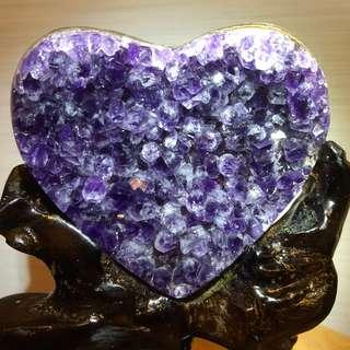 (Reserved) Heart Shape Uruguay Amethyst - 心形乌拉圭紫水晶