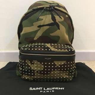 YSL Camo Studded Sac Hunting Anim Backpack 2016