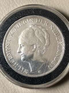 1931 Holland 21/2 Gulden Silver Coin