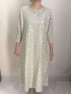 Gold Lace Kaftan (Include Camisole)
