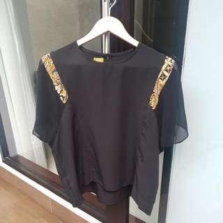 Black Batik Tops By Soetra