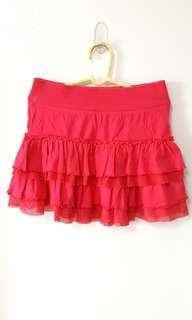 Fuchsia Ruffled Skirt