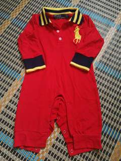 Sleepsuit Polo (Red)