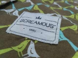 Shirt SCREAMOUS (Bird Pattern Full Print) Size L