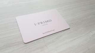 I-PRIMO TOKYO Special Referral Card