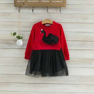 *FREE DELIVERY to WM only / Pre order 18 days* Kids peacock design long sleeves dress each as shown design/color. Free delivery is applied for this item.