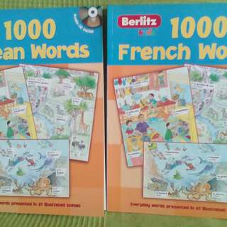 1000 Words Korean and French Books