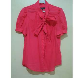 French connection bright pink blouse top 12